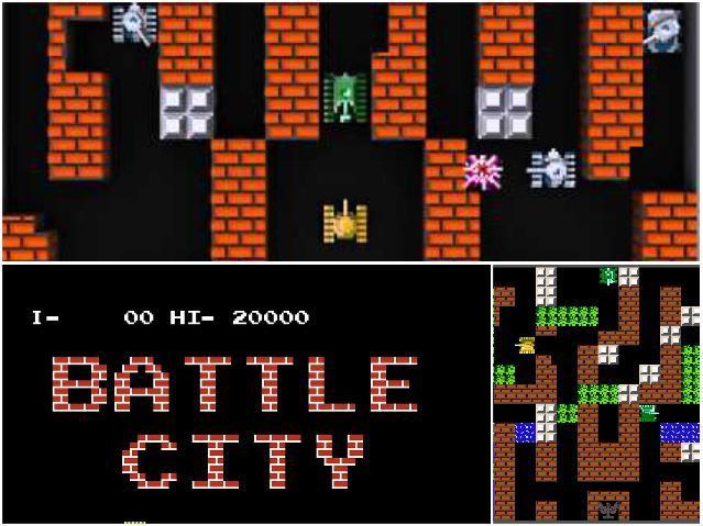 Популярные игры  на Денди - battle city