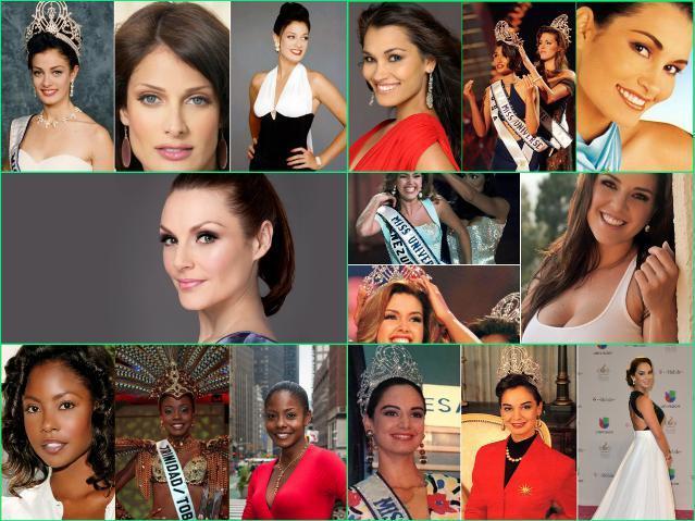 Мисс Вселенная - 1 места по годам