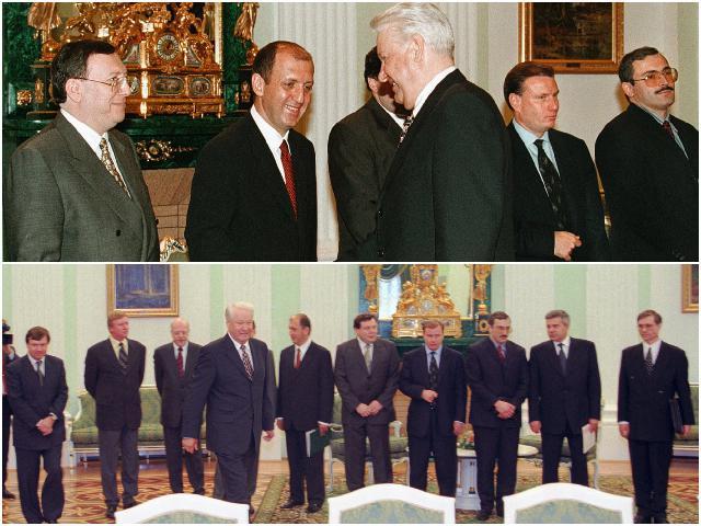 ельцин и олигархи 1996 год