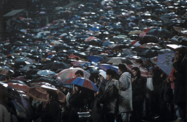 Зрители на концерте Майла Джексона