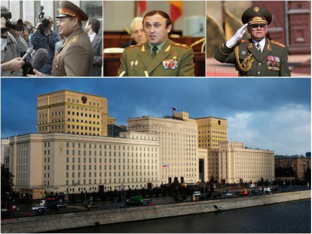 Министры обороны РФ