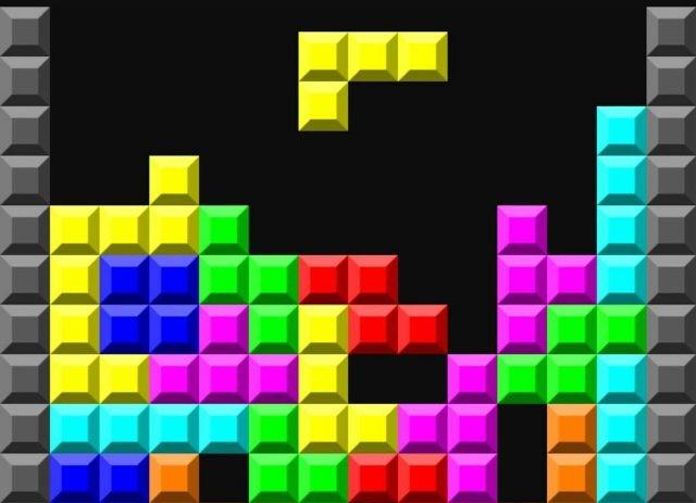 Яркие кубики Тетриса