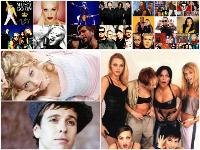 Популярные группы 90-х