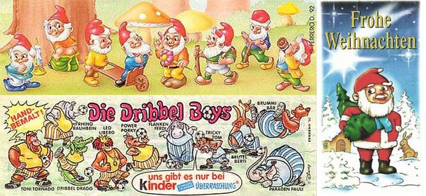 Коллекции игрушек из киндер-сюрпризов 90-х
